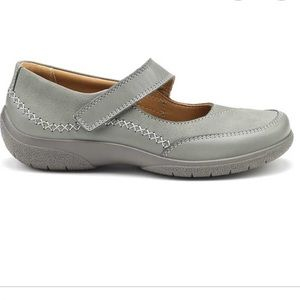 Hotter Gray mystic shoe velcro closure size 6
